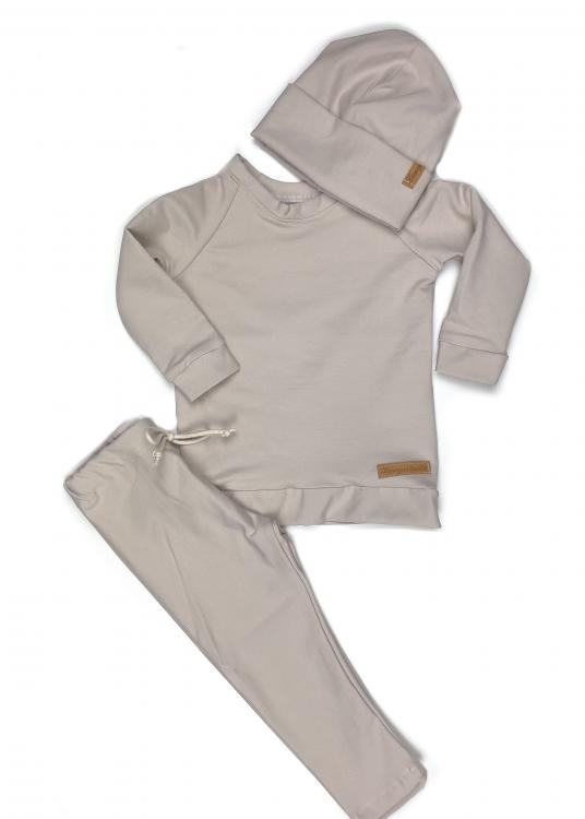 Outfit all beige , Shirt + Leggings + Beanie