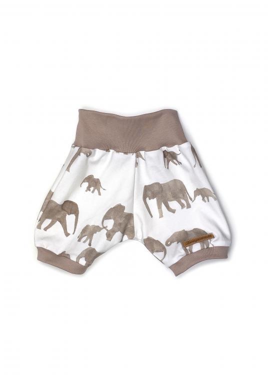 kurze Harem Pant  Elefanten beige