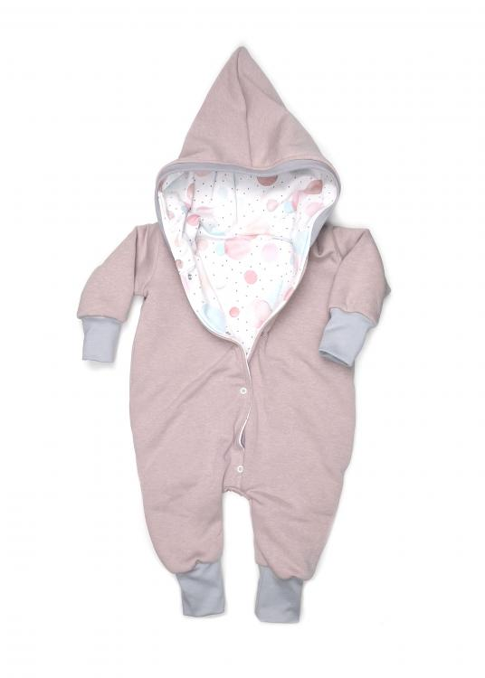 Overall Wintersweat rosa Bubble pastell