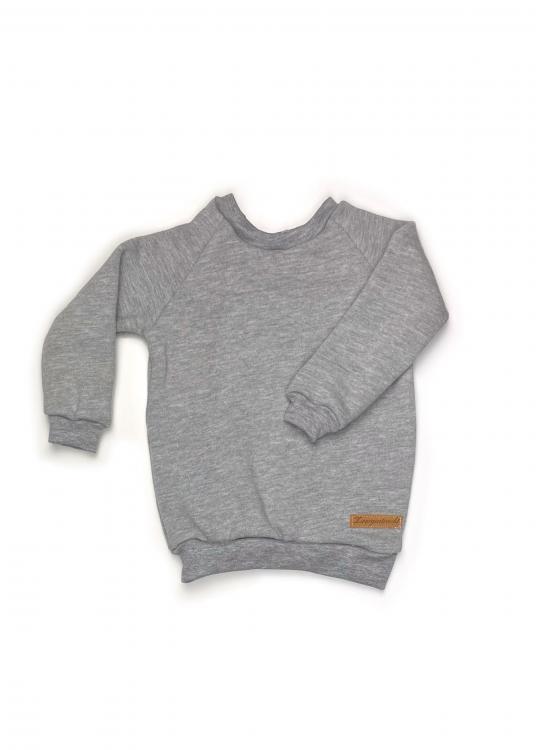 Shirt Basic Line grau meliert Kuschelsweat