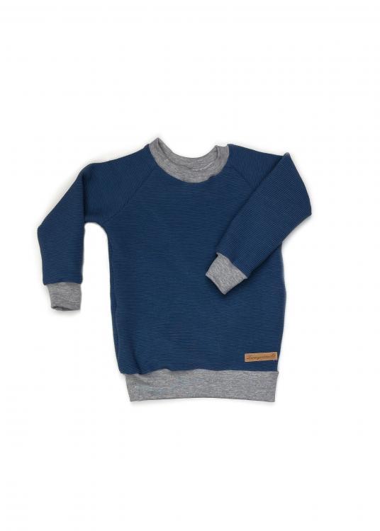Shirt Basic Line Rib blau