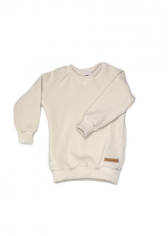 Shirt Basic Line Rib offwhite/creme