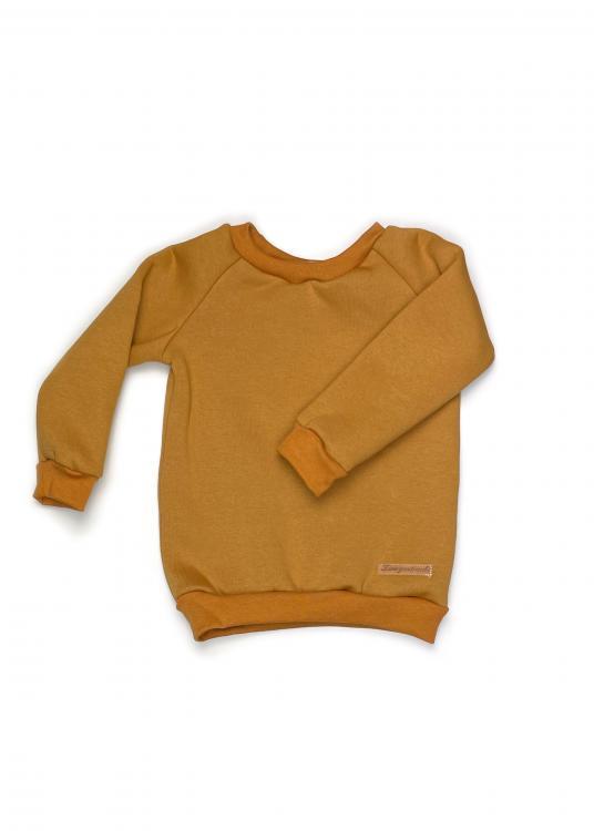 Shirt Basic Line Senf Kuschelsweat